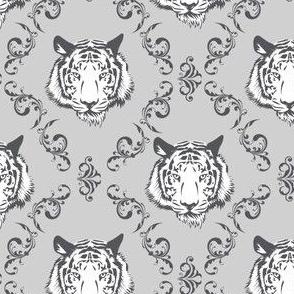Rococo Tiger in Gray