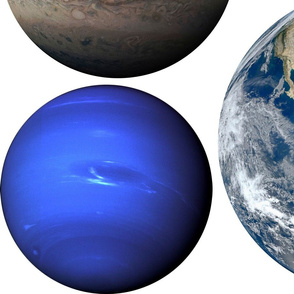 Night Sky playmat with planets 2-yard DIY template