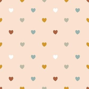 Pastel Love - Hearts 1 / Small Scale