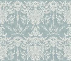 Classic Monochrome Rococo( White and Blue)
