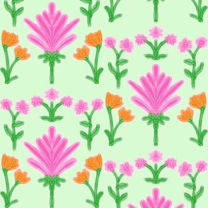 Frosted Spring Fantasy Flowers - Large Scale