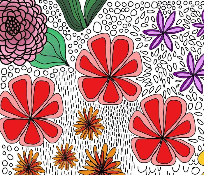 hand drawn flora