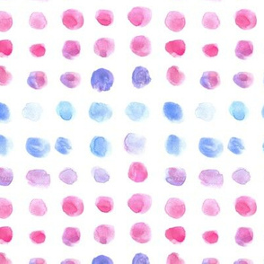 Raspberry and cornflower watercolor spots - brush stroke painted stains for modern home decor nursery bedding a134-1