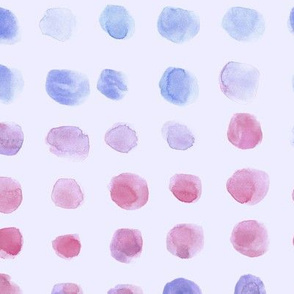 Periwinkle and raspberry watercolor spots - brush stroke painted stains for modern home decor nursery bedding a134-16