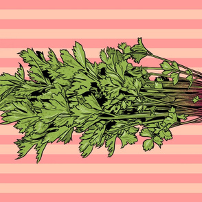 Rococo Celery Tea Towel Appleblossom