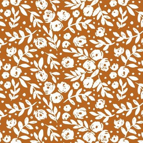 Small Scale - Isabella floral - burnt orange