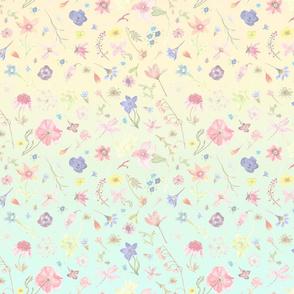rococo watercolor floral