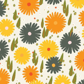 Daisy M+M Vanilla Multi Yellow Medium-Large by Friztin