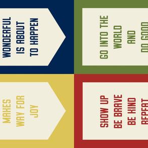 Banner Set: Collegiate Colors