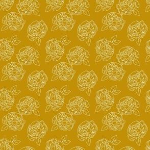 "Minimalist roses in mustard 6"""