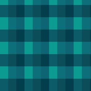 Spring or Winter Check Plaid - Deep Forest Green (small)