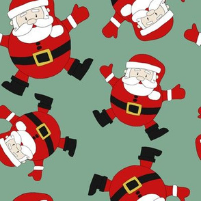 Floating Santas