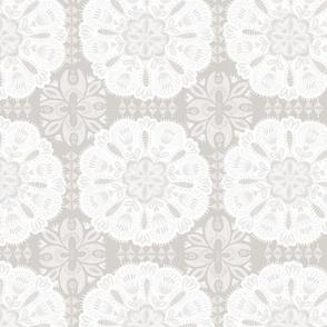 Boho Soft Grey Mandalas