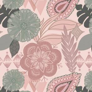 Pink Boho Tropical