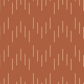 Subtle Chevron Lines - Sienna