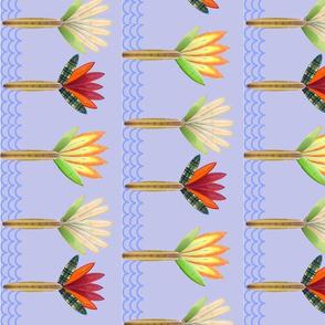 Floral Longboards Tea Towel
