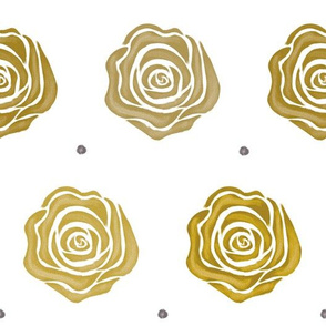 Roses and Dots - Gold