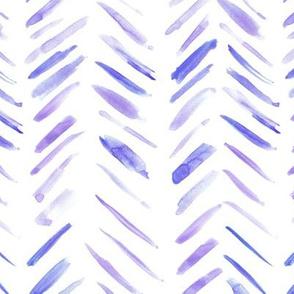Violet brush strokes watercolor herringbone - modern painted geometrical abstract pattern a134-2
