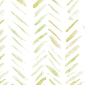 Summer grass brush strokes watercolor herringbone - modern painted geometrical abstract pattern a134-6