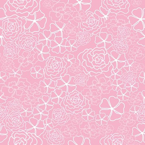 Pink Floral Texture Vector Repeat