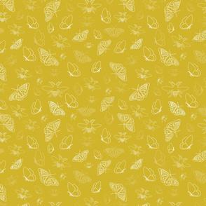 Butterflies and Bees Texture Vector