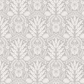 Hawaiian Damask - Medium Scale Gray