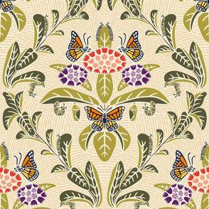 Monarchs And Milkweed Medium