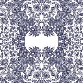 Dutch Sitsen _ Anika _ Morgan  _ Initials 2 _ Peacoquette Designs _ Copyright 2016