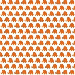 Small Orange Elephants