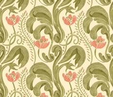 Watercolor Rococo Floral