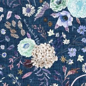 Sonetto Floral (indigo) LRG