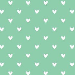 Hearts - Mint Green