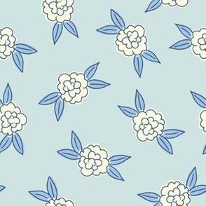 Simple Flowers - Blue