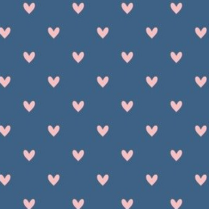 Hearts - Blue Pink