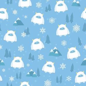 Kawaii Yeti  in the Snow - M