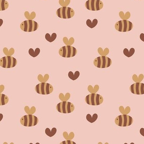 Little bumble bee cute hand cut baby insect garden ochre yellow gender neutral nursery cinnamon yellow blush copper SMALL