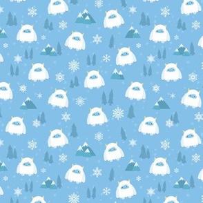 Kawaii Yeti  in the Snow - S