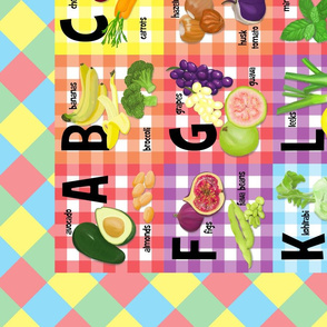 Veggie Alphabet Quilt