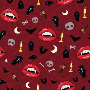 Red Vampire Lips - L