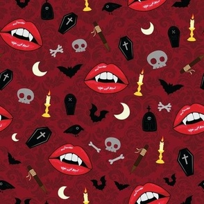 Red Vampire Lips - M