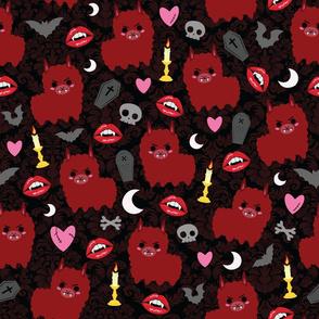 Red Vampire Llama - L