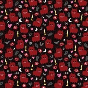 Red Vampire Llama - S