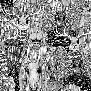 cryptid crowd black white small