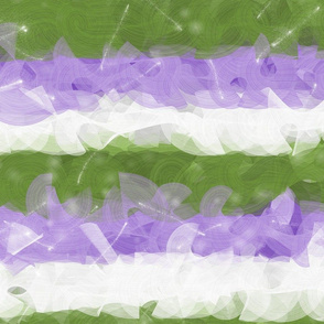 Genderqueer Sparkle - Pride Festival Genderqueer Flag Colors  -- for drag queen costume, prom party dress, coming out celebration, home decor