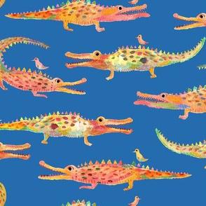 In a while crocodile blue