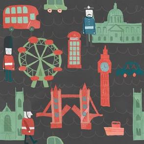 LONDON pattern GREY