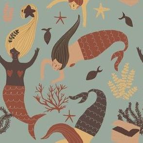 Mermaid boho blue