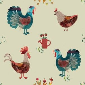 rooster print light