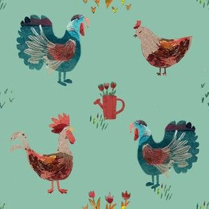 rooster print country