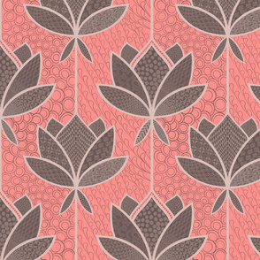 Lotus - peach - medium